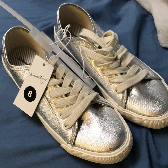 132dfebe076d Universal Thread Shoes | S Silver Sneakers | Poshmark
